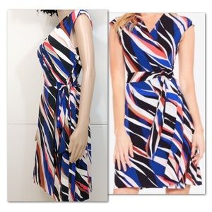 Vince Camuto Zebra Print Wrap Dress || S || NWT ||